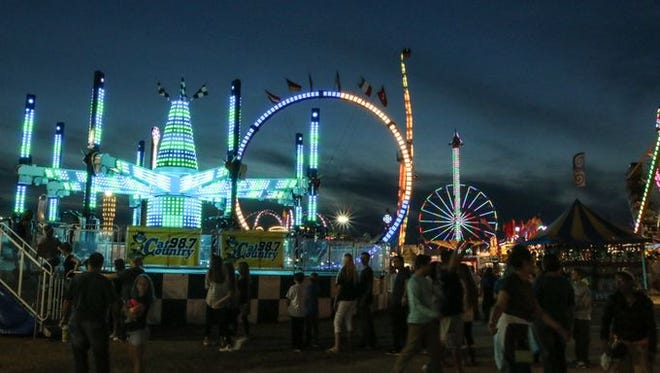 The midway at last year's Pensacola Interstate Fair. The fair returns on Thursday.