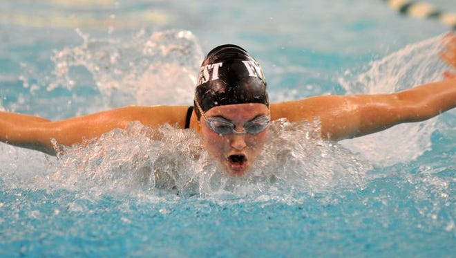 The D.C. Everest girls swim team won the Wisconsin Valley Conference meet last Thursday for the first time in the program's history
