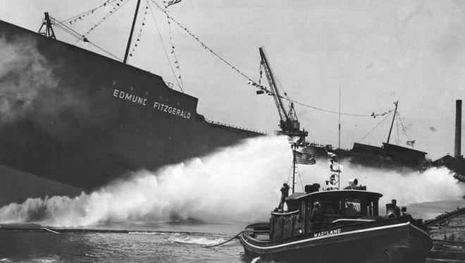 The SS Edmund Fitzgerald is launched in River Rouge on June 7, 1958.