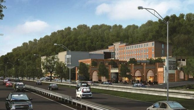 Rendering of the new 17-acre shopping center going up along the Saw Mill River Parkway in Dobbs Ferry.