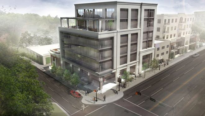 Tallahassee lobbyist Brian Ballard is asking the Community Redevelopment Agency for $525,000 in property tax rebates in order to build a 6-story office building on the southeast corner of Monroe Street and Park Avenue.