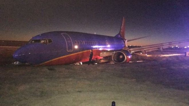 Southwest Flight 31 wreck at the Nashville International Airport on Dec. 15, 2015.
