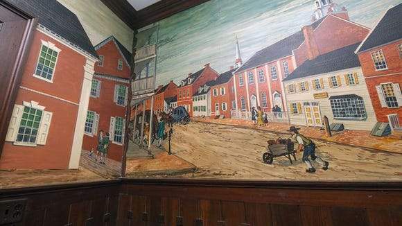 Though its purpose has changed, many historic features of the Lafayette Club will be preserved. For example, this room with murals will remain the same at the new center - making a nice blend of the new and the old.