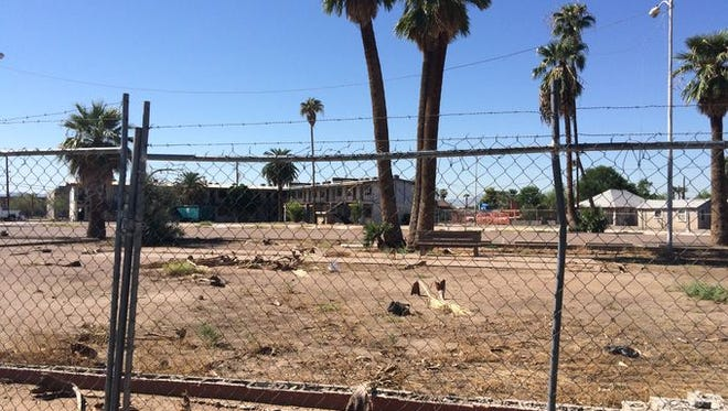 A vacant lot at 15th and Grand avenues.