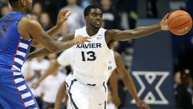 Freshman forward Makinde London, shown here in Xavier's first game against DePaul Jan. 12, scored seven points in seven minutes of Saturday's rematch.