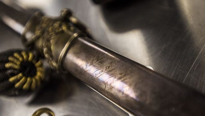 This inscribed sword - Union Gen. Hobart Ward's weapon - was part of a recent large donation to the Gettysburg National Military Park.