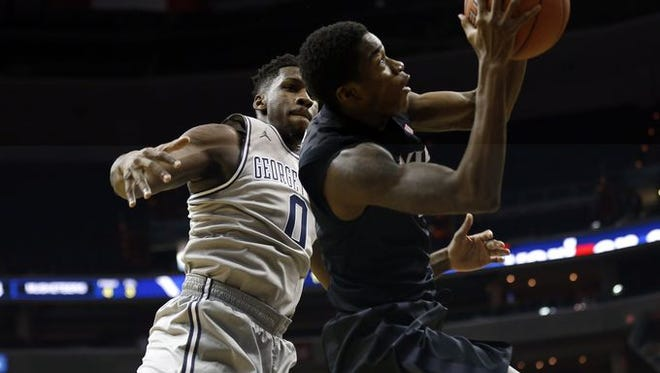 Edmond Sumner scored a career-high 22 points for No. 8 Xavier in Saturday's 88-70 rout of Georgetown at the Verizon Center in Washington, D.C.