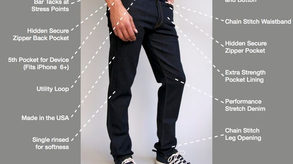 The Best Travel Jeans in the World have a hidden zipper