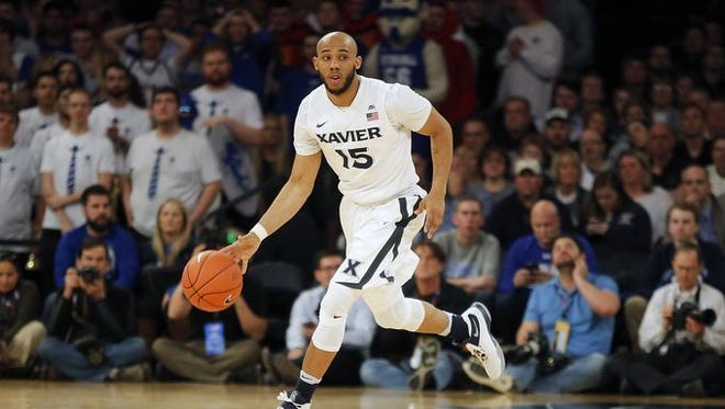 Myles Davis is suspended indefinitely from Xavier's basketball team.