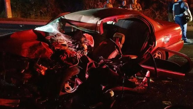 A crash around 4 a.m. Sunday near Ypaopao Estates in Dededo sent two to Guam Memorial Hospital and one to Guam Regional Medical City. The jaws of life were used to extricate a trapped victim.