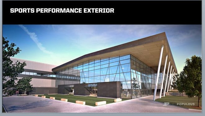 Provided by Populus Artist renderings show what the improved Purdue Football Performance Complex is expected to look like. Artist renderings show what the improved Purdue Football Performance Complex is expected to look like.
