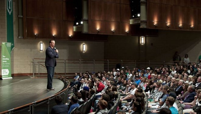 Chris Herren spoke last week at York College. His message hit home for one York County aunt who lost her nephew to a heroin overdose last year.