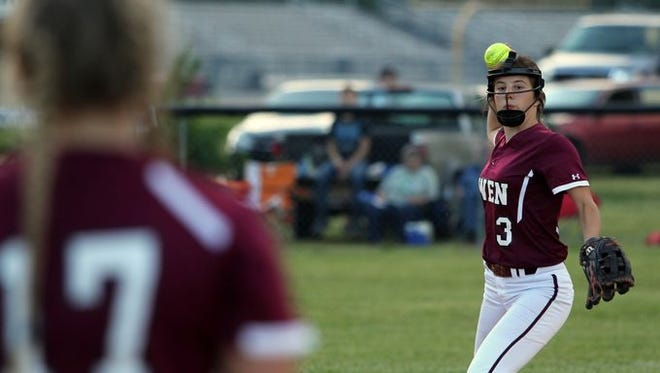 Caitlyn Ledford (3) and Owen have advanced to next week's third round of the NCHSAA 2-A softball playoffs.