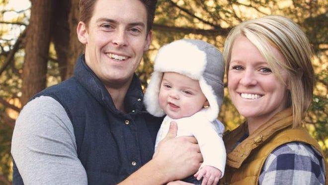Amanda and Davey Blackburn with their son, Weston.