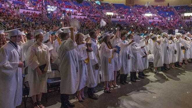Students from the class of 2016 graduate from North Valleys High School.