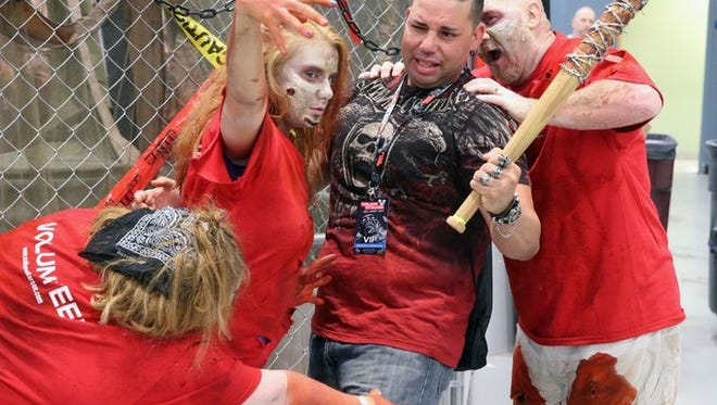Zombies invaded  New Jersey's Convention and Exposition Center for New Jersey's 2016 Walker Stalker Con.