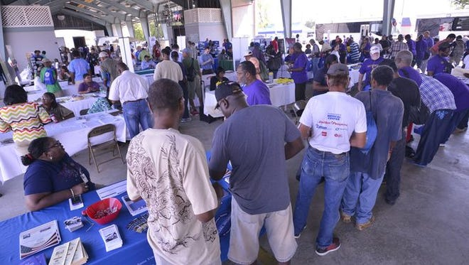 Image from last year's Homeless Veterans Stand Down event.