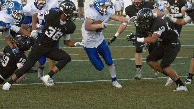 Dixie's Hobbs Nyberg runs in for a touchdown as the Flyers beat Pine View 38-7 last Friday.