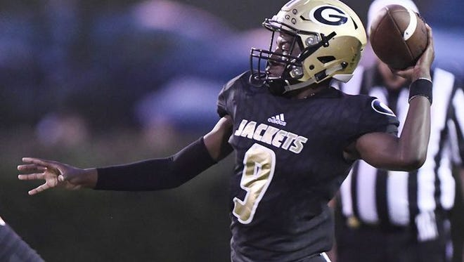 Sophomore quarterback Trey Houston and the Greer Yellow Jackets are tied at No. 10 in Class AAAA after their third consecutive victory.