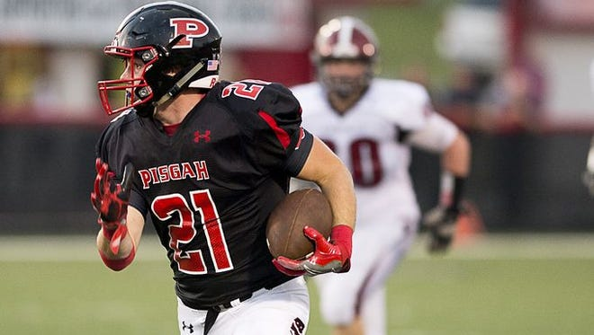 Trey Morgan (21) and Pisgah are home for Friday's football game against Tuscola.