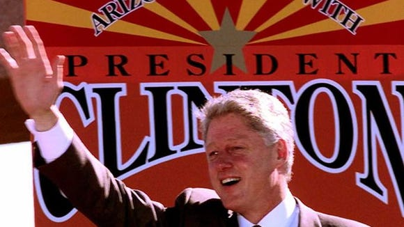 President Bill Clinton visited Arizona on Halloween in 1996 during his re-election bid and ended up carrying the state. A state  Democratic Party leader hopes Hillary Clinton will visit on the holiday with the same outcome.