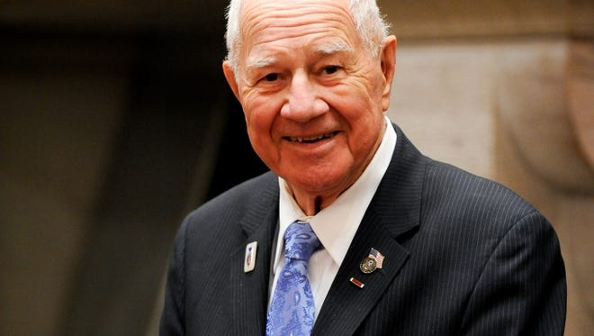 Sen. William Larkin announced Thursday he will retire from the state Senate at age 90 after serving nearly 40 years in the state Legislature