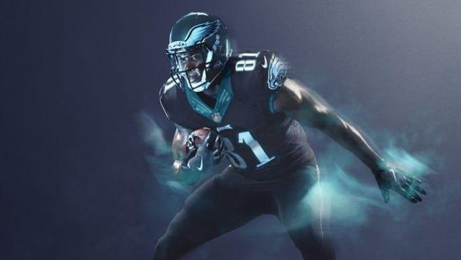 The Eagles' Color Rush uniform.