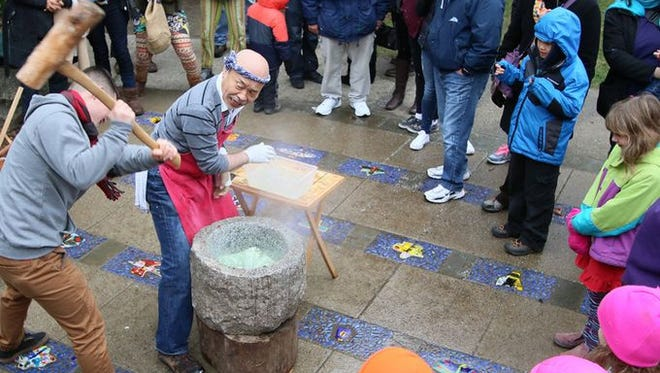 Mochi Tsuki, the annual festival to make Japanese sweet rice treats for New Year's, is this Sunday on Bainbridge Island.
