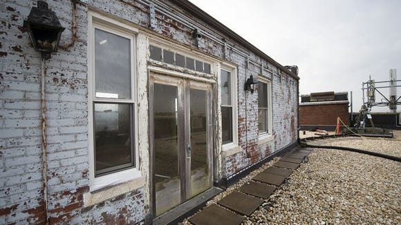 """While the Yorktowne Hotel bustled for decades, this place was at first a secluded getaway in the heart of the city and then abandoned. This building sits atop the hotel. It's called """"the penthouse,"""" but its condition today is far from that."""