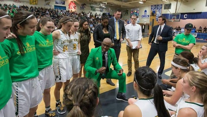 Carlnel Wiley has stepped down as the Bishop Manogue girls basketball coach.
