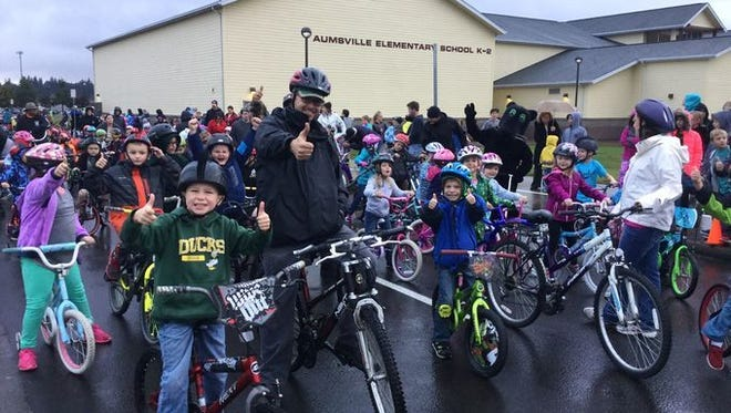 The AES Bike Club and Aumsville Police Department look forward to a successful Spring Bike to School Day, much like the fall ride in October last year.