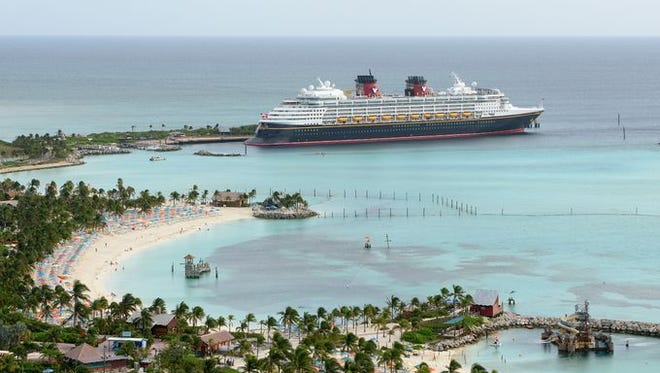 The Disney Wonder at Castaway Cay, Disney's private island in the Bahamas
