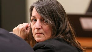 Michelle Lodzinski in court during her 2016 murder trial.