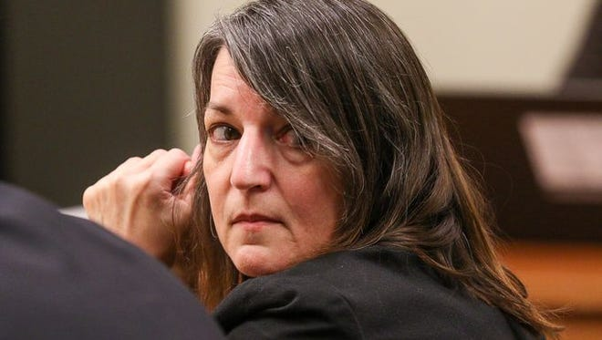 Michelle Lodzinski in court during her 2016 murder trial.