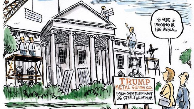 New look for White House.