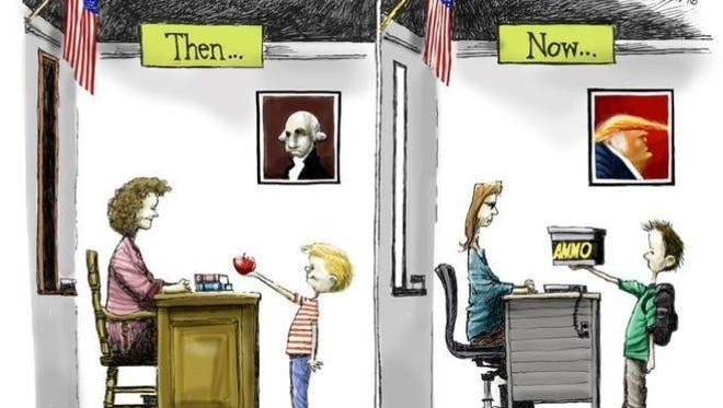 An apple or gun a day?
