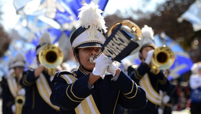TC Roberson High School marching band won second for marching bands in this year's parade.