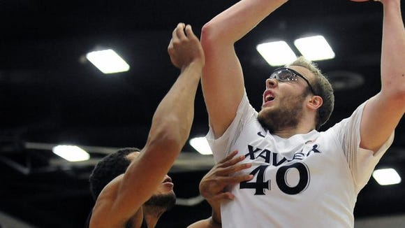 Matt Stainbrook came close to a triple-double against San Diego with 14 points, nine rebounds and eight assists.