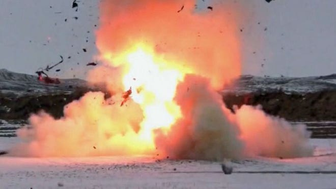 A YouTube video shows Tannerite being used to blow up a car.