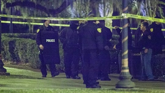 Police gather at FSU early Thursday morning