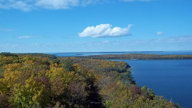 The view from Eagle Tower at Peninsula State Park in Door County.