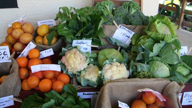 The Market Garden offers a variety of freshly picked fruits and vegetables.