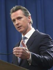 California Gov. Gavin Newsom discusses the lawsuit