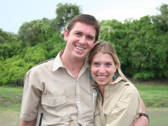 John and Rachel in Africa when they first met in 2007.