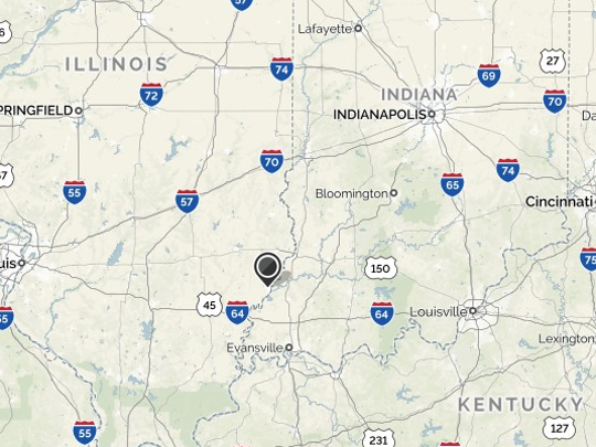 A 3.1 magnitude earthquake rattled communities along the Illinois-Indiana border late Friday.