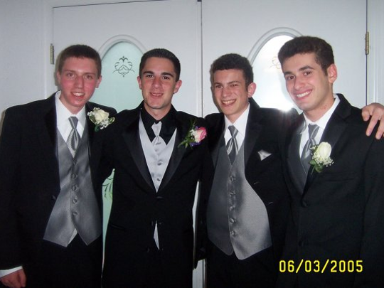 "At their East Brunswick High School prom in 2005, David Rabinowitz (left) and Charlie Wachtel (second from right), now both 31,have been longtime friends. The two wrote the original screenplay for ""BlacKkKlansman,"" a crime film directed by Spike Lee. Based on the autobiographical book ""Black Klansman"" by Ron Stallworth, the story follows an African-American detective who infiltrates and exposes the Ku Klux Klan of 1970s Colorado. It premiered in Cannes in May."