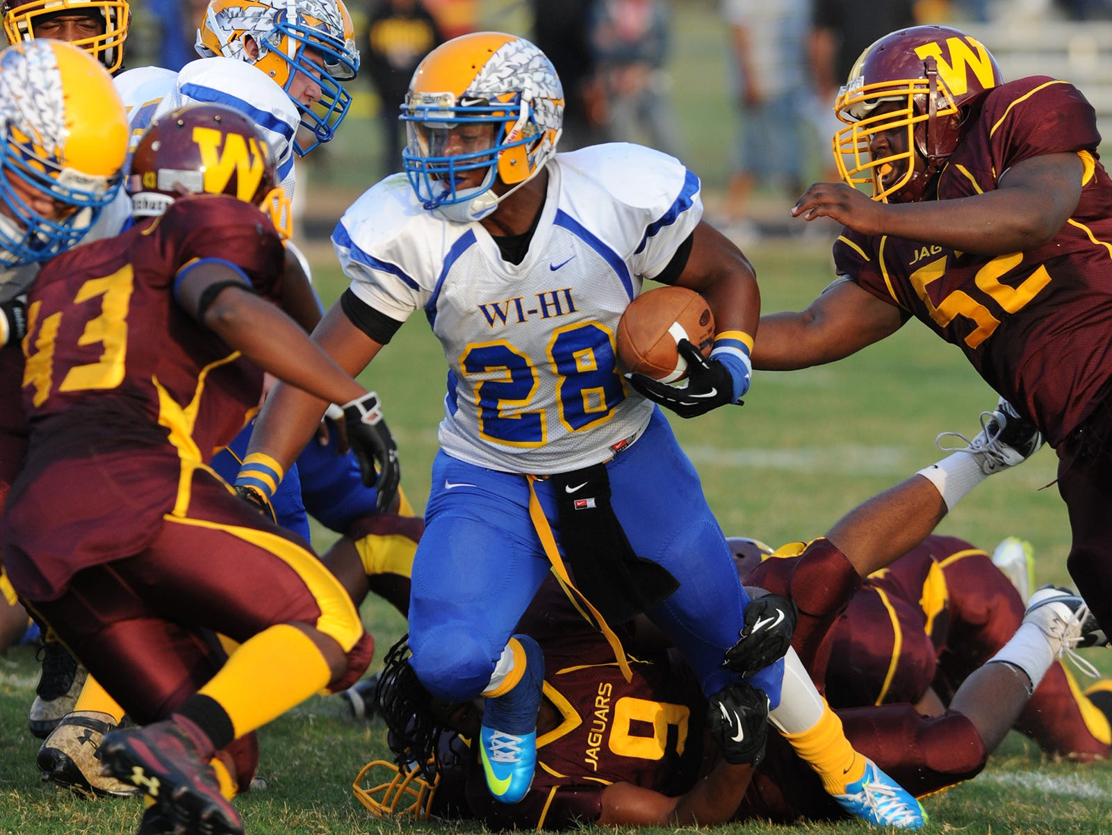 Wicomico's Nelson Brown Brown rushed for 783 yards with nine touchdowns last season for the Indians.
