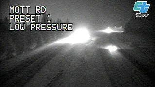California Highway Patrol is screening northbound trucks for chains on Interstate 5 at Fawndale Road.