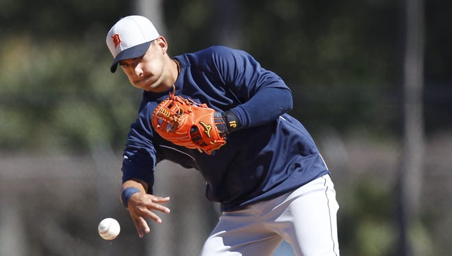 Jose Iglesias played in the home exhibition opener against the Atlanta Braves on Thursday.