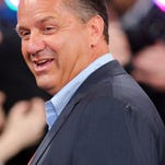 Kentucky coach John Calipari, seen attending the NBA Draft on Thursday in Brooklyn, N.Y., has denied a report that the Sacramento Kings are courting him.